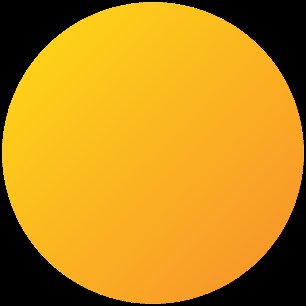 Orange Gradient Circle