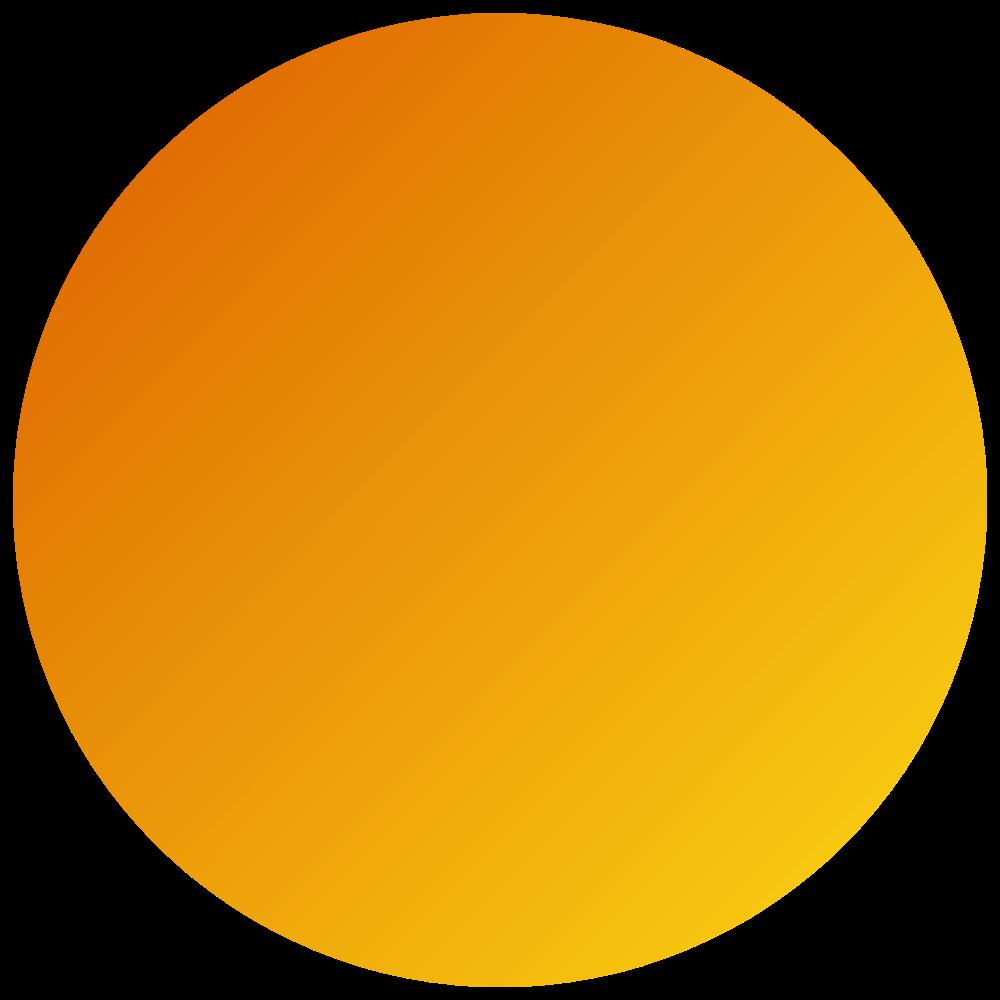 Orange Gradient Transparent Circle