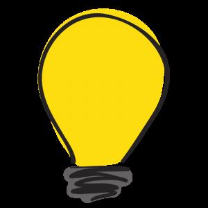 yellow light bulb