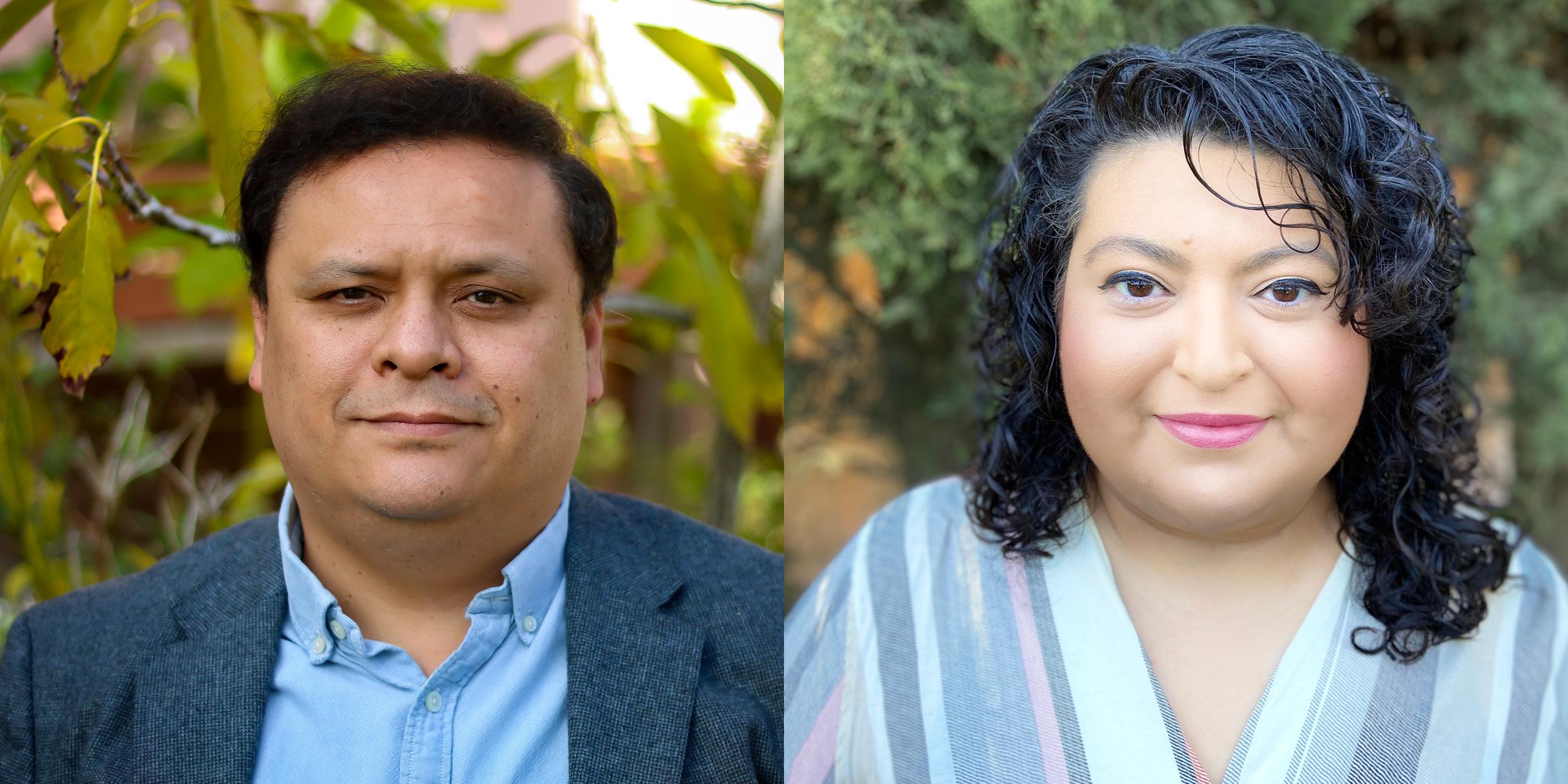 Headshot of UCI biologists Edwin Solares and Leonila Lagunes